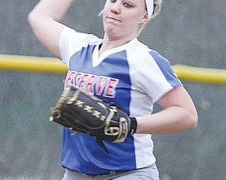 Western Reserve senior pitcher/shortstop April Lude is one of the reasons for the Blue Devils' strong start this spring.
