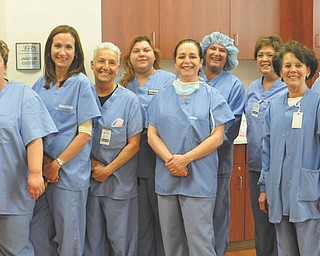 "Kelly Tkach contributed this photo of the nurses at Lee Surgery Center in Boardman. From left are Mandy, Diane, Renee, Crystal, Kelly, Colleen, Patty, Sylvia and Marie. Kelly writes that ""it is a pleasure and an honor to work with such knowledgeable and compassionate nurses."""