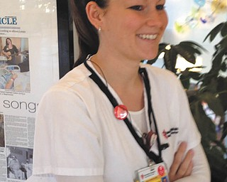 """My daughter and thousands of nurses across this country are truly a special breed of people. I am so proud of her accomplishments at 27 years old. Ashley is an assistant nurse manager at University Hospitals Ñ Ahuja in Beechwood, Ohio."" So writes Mickey Wolfe of his daughter Ashley Wolfe of Willoughby Hills, formerly of Struthers."