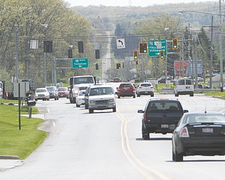 This area of Western Western Reserve Road in Boardman Township is due for road work this year, according to state and Mahoning County officials.
