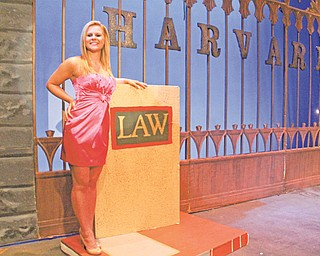 """Lindsay Stevens of Canfield plays the lead character, Elle Woods, in the Youngstown Playhouse's production of """"Legally Blonde, the Musical."""""""
