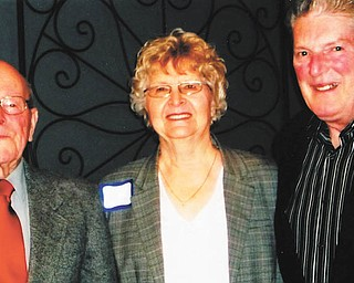 SPECIAL TO THE VINDICATOR Austintown Historical Society recently met for its 38th annual Past Presidents Dinner. Some of the past presidents who were honored are Griffith V. Thomas, left, 1983 to 1987; Joyce Pogany, from 1988 to present; and Mike Antonoff, the first president, from 1975 to 1976. For information call 330-799-8051.