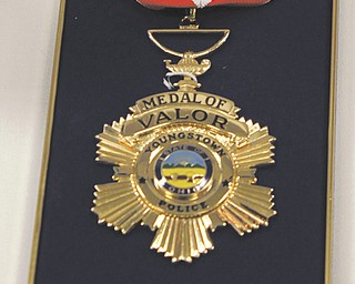 Officer Brad Ditullio received this Medal of Valor for bravery.