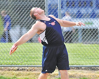 Billy Price of Austintown Fitch prepares to let go of the discus during a recent meet in Poland.