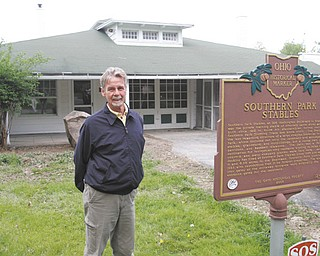 Daniel Slagle, executive director of Boardman Park, stands outside of Southern Park Stables where the park and Mahoning County 4-H plan to establish new programs for young people.