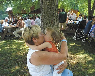 """""""Grandchildren and hugs are the best things in the world!"""" writes Paulette Kren, who submitted this photo. Here she is in one of her favorite photos of her and her granddaughter, Sophia Kren, at Slovene Fest in Enon Valley, Pa. They are from Girard."""