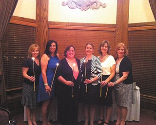 SPECIAL TO THE VINDICATOR The Junior Women's League of Canfield installed officers at its May 23 ceremony at Tippecanoe Country Club as part of its annual banquet. New officers, from left, are Denise Sargent, recording secretary; Carla Sorg, corresponding secretary; Marnie Murphy, president; Tina Marie Czarnecki, first vice president; Diane Smythe, treasurer; and Mary Ann Dwyer, second vice president.