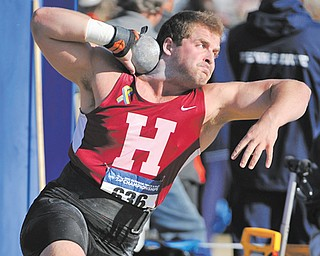 Canfield High track standout Dustin Brode will compete today for Harvard University as one of 24 finalists in the shot put during the NCAA Division I outdoor track and field championship in Eugene, Ore.