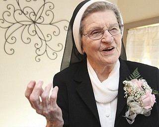 William D. Lewis\The Vindicator Sister Jerome Corcoran during a June 13, 2013 event at A La Cart Caterning in Canfield.