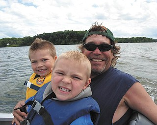 DJ, 4, and Connor,5, are with their dad, Dave Osborne. They live in North Jackson.