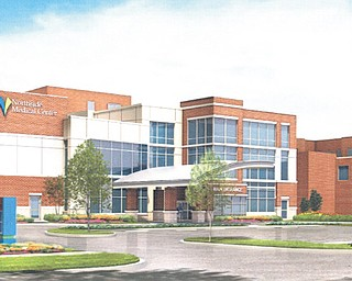This is an artist's rendering of what the new entrance to Northside Medical Center will look like when a $20 million project to expand the emergency department and create a new entrance to the hospital is complete late in 2014.