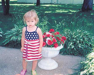 Raelynn Olson, 3, of Galloway, Ohio, sent by her great-grandmother, Agnes Myers of Austintown.
