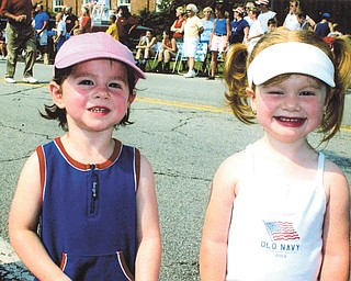 Cousins, Alisson Fisher of Canfield and Madeline DeRocco of Landsdale, Pa., at the Canfield 4th of July celebration, sent by their grandma, Marilyn Fisher.