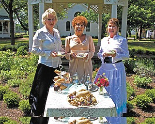 SPECIAL TO THE VINDICATOR The Holborn Herb Growers Guild will host a Garden Tea Party from 2 to 4 p.m. Sunday at Western Reserve Village at the Canfield Fairgrounds. Above, from left, are Yvonne Ford, president; Johanne Edel, chairwoman of the tea; and Chesney Gulas, treasurer. There will be demonstrations and herbs for sale, a tea cup and saucer to take home, samples of herb teas and delicacies, a tour of historic buildings, hat contest and children can take their favorite dolls. The cost is $10 for adults and children 12 and under are free. Reservations are due by Thursday. Use the Gate 5 entrance. Call 330-538-3072 or 330-831-3425.