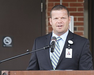 Kirk Ray, chief executive officer of Northside Medical Center and ValleyCare Health System of Ohio, led the groundbreaking ceremony Tuesday for a $20 million expansion and renovation project at Northside on Gypsy Lane.