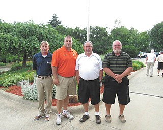 SPECIAL TO THE VINDICATOR Alliance Community Hospital Charity Golf Outing welcomed 108 golfers June 17 at the Alliance Country Club. From left, the team of Bud Flanigan, Joe Greco, Gary Belles and Jake Keister won the putting contest and a $2,000 scholarship for a Louisville High School student entering the medical field. Proceeds this year will benefit five organizations: the Alliance Family YMCA, the Alliance for Children and Families, the Alliance Neighborhood Center, the Alliance Area Development Foundation and the Homeless Continuum of Care of Stark County.