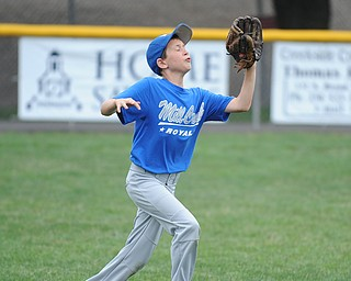 Mill Creek outfielder #19 Stephen Babik gets under a fly ball during practice Monday morning.