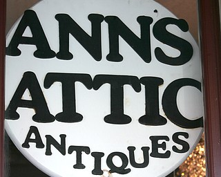 the sign in front of the store