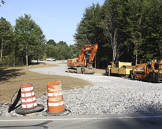 This is a view of the entrance to the new Eastlake MetroPark on state   Route 46 just north of Lake Vista retirement community in Cortland   after workers with Miller-Young Paving of Bazetta built a parking   area as part of the first phase of the project. It will include the   creation of a sled riding hill this winter and other recreational   opportunities in coming years.