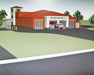 MADELYN P. HASTINGS I THE VINDICATOR..A rendering of a new fire department in Boardman which is in the hopes of being built.