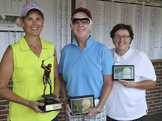 ggov ladies open winner.l-r Toni Notaro, Joan Ash and Lori Bowden