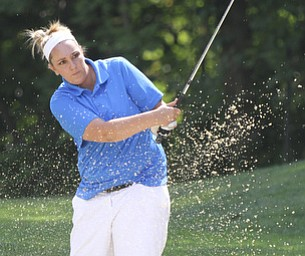 William D Lewis The Vindicator  Abby Cook blast out of a bunker during GGOV Sunday.