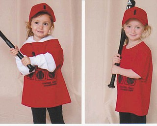 Sisters, Claire O'Leary, 3, and Lauren O'Leary, 5, of Youngstown, are shown in uniform during their first year on Mill Creek T-ball League. Sent by Grandma Mama Fran Chicone.