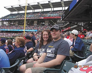 Amy and Jay Dahl of Austintown attended the Cleveland Indians vs. Washington Nationals game June 15.
