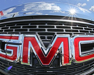 The grill of a 2013 GMC Terrain AWD SLT-1 is seen in Pittsburgh.