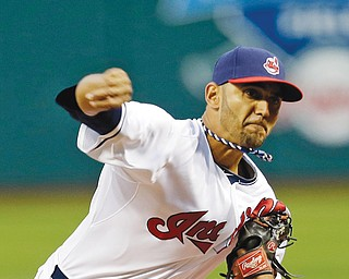 Cleveland Indians pitcher Danny Salazar throws against the Chicago White Sox during the first inning of a game on Sept. 25. Salazar will start tonight against the Tampa Bay Rays.