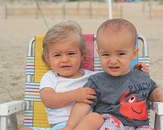 Cousins Nina Armeni and Aniello Rose, are enjoying the sand at Bethany Beach, Del., while on vacation. Taken by Aunt Joyce Buzzacco.