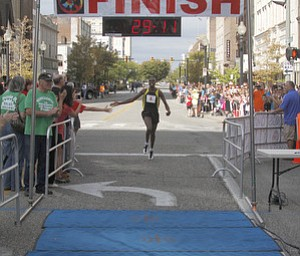 .          ROBERT  K. YOSAY | THE VINDICATOR..And the Mens winner is.... from Kenya..The 39th Annual Peace Race -  with over 2000 runners on a beautiful October day