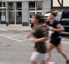 .          ROBERT  K. YOSAY | THE VINDICATOR..oh wow.. as runners blaze by..The 39th Annual Peace Race -  with over 2000 runners on a beautiful October day