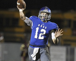 William D Lewis The Vindicator Lakeview's (Angelo Marino(12) fires downfield during 10 25 13 game with Liberty.