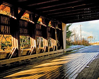 The Giddings Road Bridge was restored in 1995 and crosses Mill Creek in Jefferson Township.