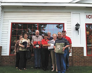 SPECIAL TO THE VINDICATOR Members of Poland Lions Club are preparing for its Blanket of Kindness Drive from Friday through 17. From left are Lori Esasky, Monica Maholtz, Chuck Maholtz, Judy Young, Dave Rudowsky, Lori Gentile, Gerald Gentile and Paul Young.