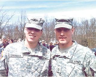 Kyle Zahniser (left) and Brant PRG 6-9 APO AE 09354-3005