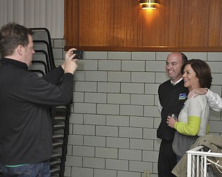 ROBERT K. YOSAY  | THE VINDICATOR..Eileen Gilmartin and John McNally  pose for a photograph after McNally won the Mayors race in Youngstown ..-30-....
