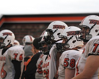 MADELYN P. HASTINGS | THE VINDICATOR..The Sharon High School football team has their first football practice since a fatal car accident Friday night, killing two of their teammates. Their playoff game was rescheduled for Monday.... - -30-..