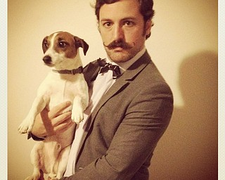 Movember participant Adam Causgrove of Pittsburgh was named Robert Goulet Memorial Mustached American of the Year in 2012. He will be make an appearance at the Lake Tavern in Mecca on Nov. 29 to serve as announcer for their mustache contest.
