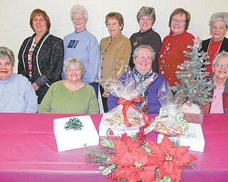 SPECIAL TO THE VINDICATOR Calvary United Methodist Church, 12062 South Ave., North Lima, will host its annual Christmas cookie sale from 10 to 11:30 a.m. Dec. 14. A large variety of homemade cookies will be packaged and sold by the box and tray. Those involved with the project are, front row, from left, Cindy Wessel, the Rev. Renee Miggett, Pat Zimmerman and Hazel Dudash; and in the back row, Debbie Repasky, Marion Coombs, Charlotte Evankovich, Debbie Martin, Carmen Williams and Betty Oliver. For information call the church at 330-549-2588.