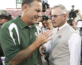 Michigan State coach Mark Dantonio's connections to Ohio and Ohio State run deep. Dantonio, a Zanesville native, is adamant that there is no lingering animosity between him and the coaching staff at OSU, where he once coached under Jim Tressel. He also was one of Tressel's assistant coaches at Youngstown State.