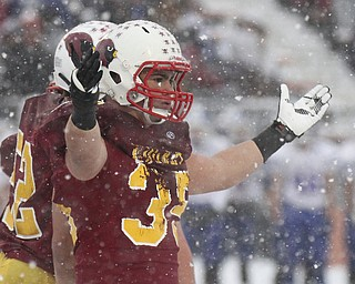 William D LEwis the Vindicator  Mooney's Anthony Dermotta(35) reacts during Mooney loss in Massilon.