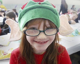 William D Lewis The Vindicator  Emily Chambers, 2nd grade, sports elf ears during Struthers Rotary Christmas party 12-17-13 at Struthers Presbyterian Church.She is a student at Austintown elem School.