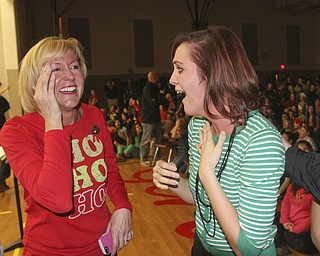 William D. Lewis The Vindicator Girard Intermediate School 5 th grade teacher  Alyssa DiBernardi, RIGHT,  reacts afgter being proposed to. At left is her mother Wendy DiBernardi, also a teacher at the school.