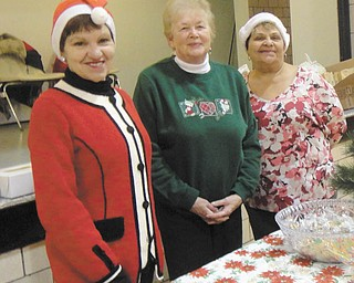 SPECIAL TO THE VINDICATOR Girard Junior Women recently sponsored its annual bazaar and fundraiser. Some of the volunteers for the event were Roselyn Gadd, left, Martha Altiere and Linda Kaip. Scholarships and donations to the Emmanuel Center are examples of the recipients of the money raised. All proceeds benefit the Girard community. For information about joining, contact Laura Sobnosky at ljsobnosky@att.net.