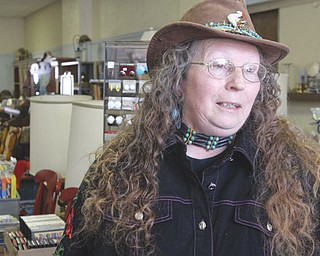 Robin Scott, owner of Robin's Junk Emporium on South Bridge Street in Struthers, has been in business for more than 10 years.