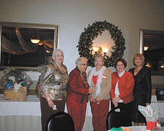 SPECIAL TO THE VINDICATOR The Niles Chapter of the American Sewing Guild had its holiday party and annual meeting early in December at Ciminero's Banquet Center, where the members elected the 2014 chapter advisory board. From left to right are Lynn Price, treasurer; Gretchen Saunders, secretary; Karen Bandy, second vice president; Diane Wittik, first vice president; and Barb Tryon, president. For her important contributions to the Guild, Jodi Clark received the Member of the Year award. She coordinates special events and runs a sewing business from her home.