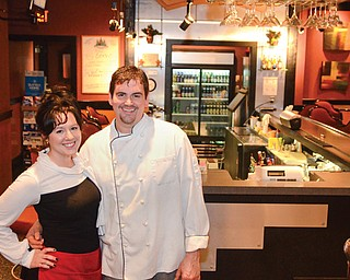 Owners Christopher and Shauna Bonacci recently opened Christopher's Downtown restaurant in the City Centre One building.