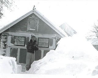 This photo was taken the day after Thanksgiving and after the big snow in 1950 on the Westside of Youngstown on Midland Avenue at the home of the Schultz family. Jesse Loverich is in the picture. Submitted by Dorothy Schultz.